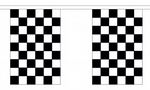 BLACK AND WHITE CHECKERED BUNTING - 3 METRES 10 FLAGS
